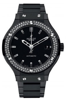 Hublot Classic Fusion Automatic Black Magic Ceramic 38mm Mens watch, model number - 565.cm.1170.cm.1104, discount price of £7,760.00 from The Watch Source