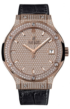 Hublot Classic Fusion Automatic Gold 38mm Mens watch, model number - 565.ox.9010.lr.1704, discount price of £29,600.00 from The Watch Source