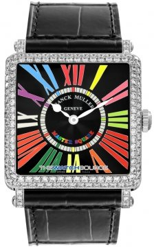 Franck Muller Master Square Quartz Ladies watch, model number - 6002 M QZ D CODR WG Black , discount price of £12,960.00 from The Watch Source