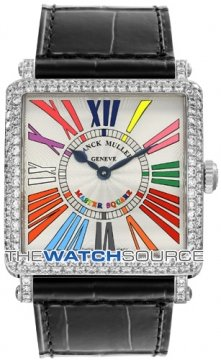 Franck Muller Master Square Quartz Ladies watch, model number - 6002 M QZ D CODR WG Silver, discount price of £13,280.00 from The Watch Source