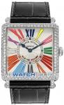 Franck Muller Master Square Quartz 6002 M QZ D CODR WG Silver watch