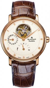 Blancpain Villeret Tourbillon 8 Day Power Reserve  Mens watch, model number - 6025-3642-55b, discount price of £66,512.00 from The Watch Source