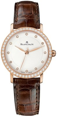 Blancpain Villeret Ultra Slim Ladies Automatic 29mm Ladies watch, model number - 6102-2987-55, discount price of £8,832.00 from The Watch Source