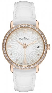 Blancpain Ladies Ultra Slim Automatic 34mm Ladies watch, model number - 6604-2944-55a, discount price of £13,530.00 from The Watch Source