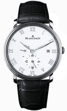 Blancpain Villeret Small Seconds Date & Power Reserve Mechanical Mens watch, model number - 6606-1127-55b, discount price of £5,465.00 from The Watch Source