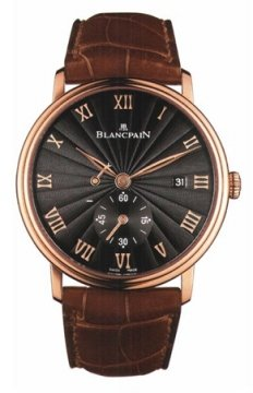 Blancpain Villeret Small Seconds Date & Power Reserve Mechanical Mens watch, model number - 6606-3630-55b, discount price of £11,320.00 from The Watch Source