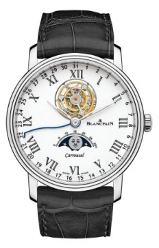 Blancpain Villeret Carrousel Moonphase 42mm Mens watch, model number - 6622L-3431-55b, discount price of £89,080.00 from The Watch Source