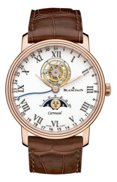 Blancpain Villeret Carrousel Moonphase 42mm Mens watch, model number - 6622L-3631-55b, discount price of £76,500.00 from The Watch Source