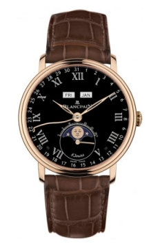 Blancpain Villeret Complete Calendar 8 Days Mens watch, model number - 6639-3637-55b, discount price of £26,016.00 from The Watch Source