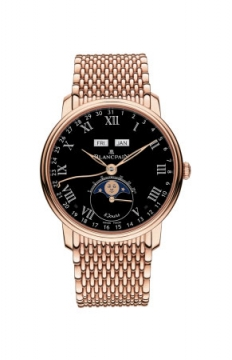 Blancpain Villeret Complete Calendar 8 Days Mens watch, model number - 6639-3637-mmb, discount price of £37,931.00 from The Watch Source
