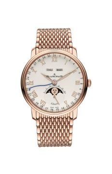 Blancpain Villeret Complete Calendar 8 Days Mens watch, model number - 6639-3642-mmb, discount price of £32,664.00 from The Watch Source