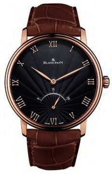 Blancpain Villeret Ultra Slim 30 Seconds Retrograde Mens watch, model number - 6653-3630-55b, discount price of £13,566.00 from The Watch Source