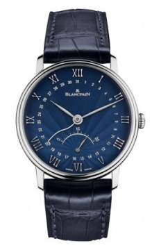 Blancpain Villeret Ultra Slim Date 30 Seconds Retrograde Mens watch, model number - 6653q-1529-55b, discount price of £12,496.00 from The Watch Source