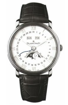 Blancpain Villeret Moonphase & Complete Calendar 40mm Mens watch, model number - 6654-1127-55b, discount price of £8,475.00 from The Watch Source