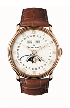 Blancpain Villeret Moonphase & Complete Calendar 40mm Mens watch, model number - 6654-3642-55, discount price of £13,384.00 from The Watch Source