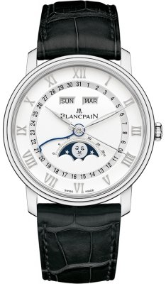 Blancpain Villeret Moonphase & Complete Calendar 40mm 6654a-1127-55b watch