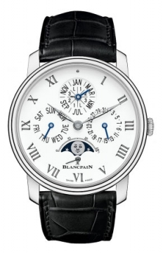 Blancpain Villeret Quantieme Perpetual 8 Days Automatic 42mm Mens watch, model number - 6659-3431-55b, discount price of £47,396.00 from The Watch Source