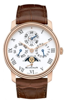 Blancpain Villeret Quantieme Perpetual 8 Days Automatic 42mm Mens watch, model number - 6659-3631-55b, discount price of £36,503.00 from The Watch Source