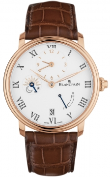 Blancpain Villeret 8 Days Half Timezone Mens watch, model number - 6661-3631-55b, discount price of £23,430.00 from The Watch Source