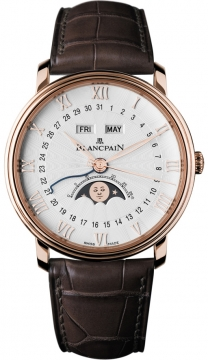 Blancpain Villeret Moonphase & Complete Calendar 40mm Mens watch, model number - 6664-3642-55b, discount price of £17,051.00 from The Watch Source