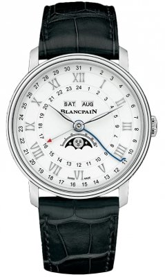 Blancpain Villeret Moonphase Complete Calendar GMT 40mm 6676-1127-55b watch