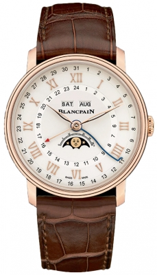 Blancpain Villeret Moonphase Complete Calendar GMT 40mm 6676-3642-55b watch