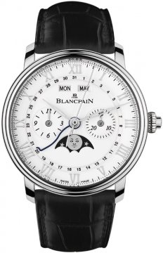 Blancpain Villeret Single Pusher Chronograph Complete Calendar Mens watch, model number - 6685-1127a-55b, discount price of £12,127.00 from The Watch Source