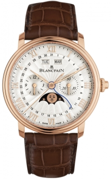 Blancpain Villeret Single Pusher Chronograph Complete Calendar Mens watch, model number - 6685-3642a-55b, discount price of £19,533.00 from The Watch Source