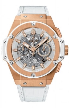 Hublot King Power UNICO Chronograph Gold 48mm Mens watch, model number - 701.oe.0128.gr, discount price of £25,600.00 from The Watch Source