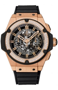 Hublot King Power UNICO Chronograph Gold 48mm Mens watch, model number - 701.ox.0180.rx.1104, discount price of £28,480.00 from The Watch Source