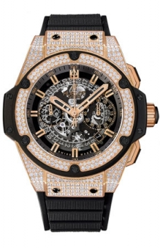 Hublot King Power UNICO Chronograph Gold 48mm Mens watch, model number - 701.ox.0180.rx.1704, discount price of £35,200.00 from The Watch Source