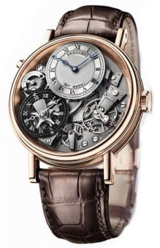 Breguet Tradition GMT Manual Wind 40mm Mens watch, model number - 7067br/g1/9w6, discount price of £23,800.00 from The Watch Source