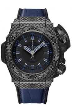 Hublot King Power Oceanographic 4000 48mm Mens watch, model number - 731.qx.1190.gr.abb12 ALL BLACK BLUE, discount price of £15,360.00 from The Watch Source
