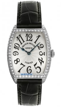 Buy this new Franck Muller Cintree Curvex 7502 QZ D Silver SS ladies watch for the discount price of £14,400.00. UK Retailer.