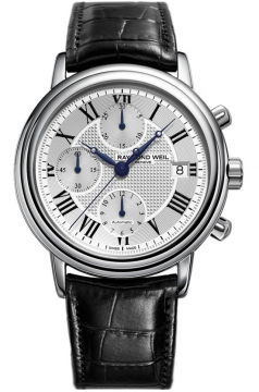 Raymond Weil Maestro Mens watch, model number - 7737-stc-00659, discount price of £1,635.00 from The Watch Source