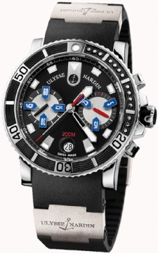 Ulysse Nardin Maxi Marine Diver Chronograph Mens watch, model number - 8003-102-3/92, discount price of £6,545.00 from The Watch Source