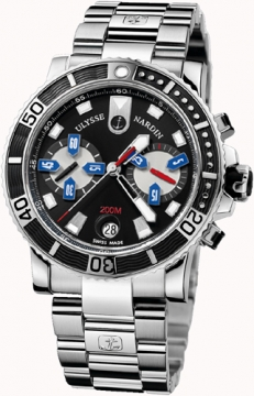 Ulysse Nardin Maxi Marine Diver Chronograph Mens watch, model number - 8003-102-7/92, discount price of £7,050.00 from The Watch Source