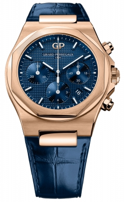 Buy this new Girard Perregaux Laureato Chronograph 42mm 81020-52-432-bb4a mens watch for the discount price of £21,165.00. UK Retailer.