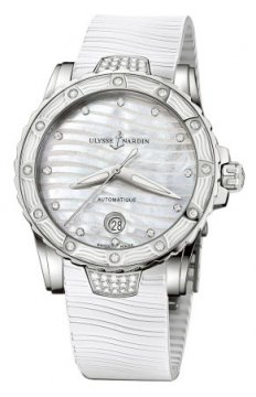 Ulysse Nardin Lady Diver 40mm Ladies watch, model number - 8153-180e-3c/10, discount price of £6,923.00 from The Watch Source
