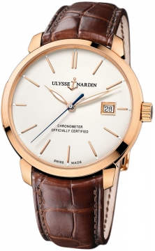 Ulysse Nardin San Marco Classico Automatic 40mm Mens watch, model number - 8156-111-2/91, discount price of £8,687.00 from The Watch Source