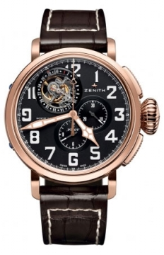 Zenith Pilot Montre d'Aeronef Type 20 Tourbillon Mens watch, model number - 87.2430.4035/21.C721, discount price of £41,205.00 from The Watch Source
