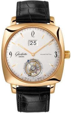 Glashutte Original Senator Sixties Square Tourbillon Mens watch, model number - 94-12-01-01-04, discount price of £65,297.00 from The Watch Source