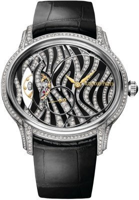 Buy this new Audemars Piguet Ladies Millenary Hand Wound 77249bc.zz.a102cr.01 ladies watch for the discount price of £64,449.00. UK Retailer.