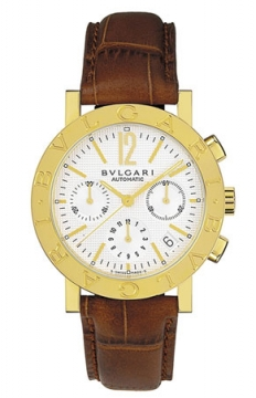 Bulgari BVLGARI BVLGARI Chronograph 38mm Mens watch, model number - bb38wgldch/n, discount price of £10,989.00 from The Watch Source