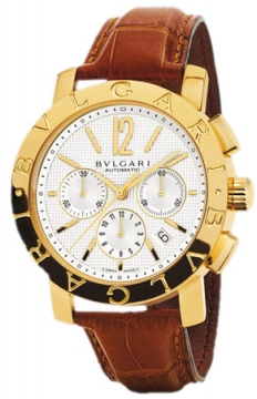 Bulgari BVLGARI BVLGARI Chronograph 42mm Mens watch, model number - bb42wgldch, discount price of £12,871.00 from The Watch Source