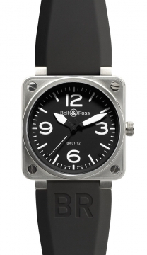 Bell & Ross BR01-92 Automatic 46mm Mens watch, model number - BR01-92 Steel Black, discount price of £2,080.00 from The Watch Source