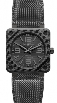 Bell & Ross BR01-92 Automatic 46mm Mens watch, model number - BR01-92 Carbon Fiber Phantom, discount price of £4,612.00 from The Watch Source