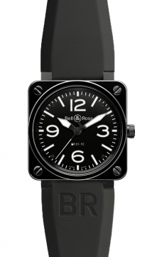 Bell & Ross BR01-92 Automatic 46mm Mens watch, model number - BR01-92 Black Ceramic, discount price of £3,055.00 from The Watch Source