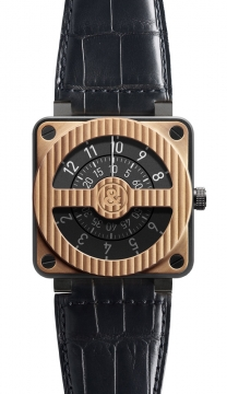 Bell & Ross BR01-92 Automatic 46mm Mens watch, model number - BR01-92 Compass Pink Gold Carbon, discount price of £8,019.00 from The Watch Source