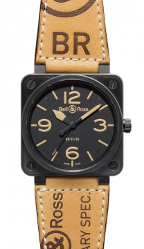 Bell & Ross BR01-92 Automatic 46mm Mens watch, model number - BR01-92 Heritage, discount price of £2,565.00 from The Watch Source